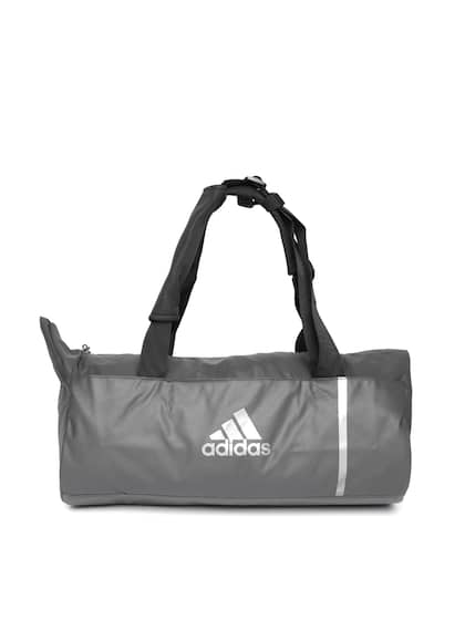 9f11086a54d ADIDAS Unisex Grey Convertible Training Duffle Bag Cum Backpack