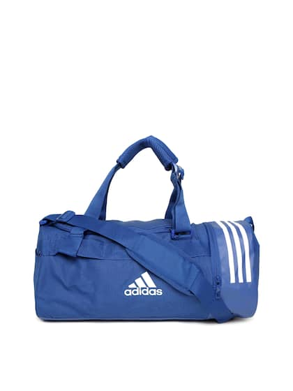 ADIDAS Unisex Blue Convertible 3 Stripes Duffle Bag Cum Backpack 3aff547d9c69d