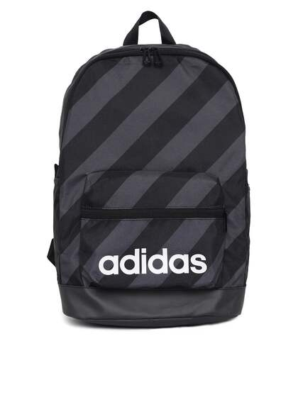 b29b3c7644d8 ADIDAS Unisex Black   Charcoal Grey AOP Daily Striped Backpack