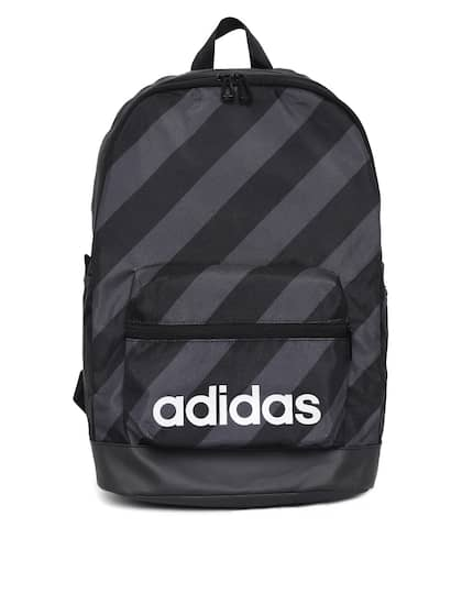 ADIDAS Unisex Black   Charcoal Grey AOP Daily Striped Backpack 7fe018efbecc0