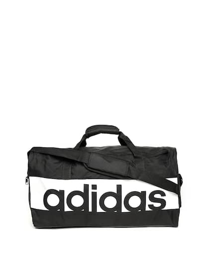 size 40 c0ffc 23adf ADIDAS Unisex Black   White Linear Performance Medium Duffle Bag