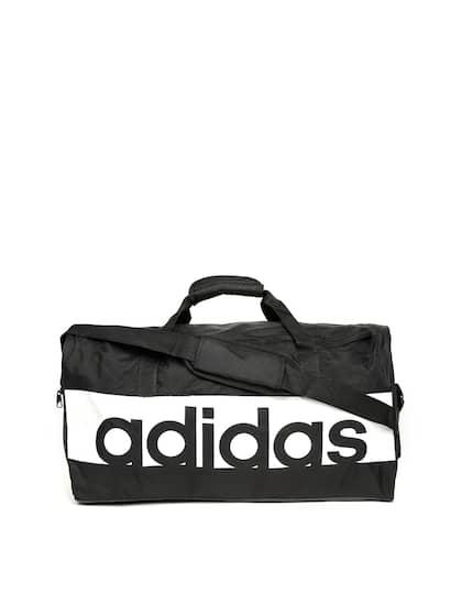 2a341406c205 ADIDAS Unisex Black   White Linear Performance Medium Duffle Bag