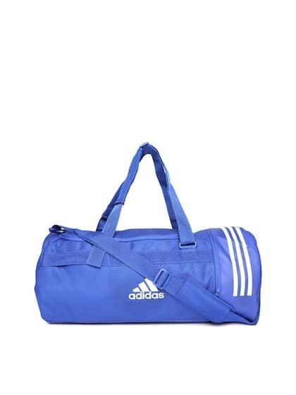 821b244bb28e ADIDAS Unisex Blue Convertible 3 Stripes Duffle Bag Cum Backpack