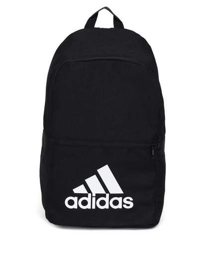 cda81db170 ADIDAS Unisex Black BP CLASSIC 18 Brand Logo Print Backpack