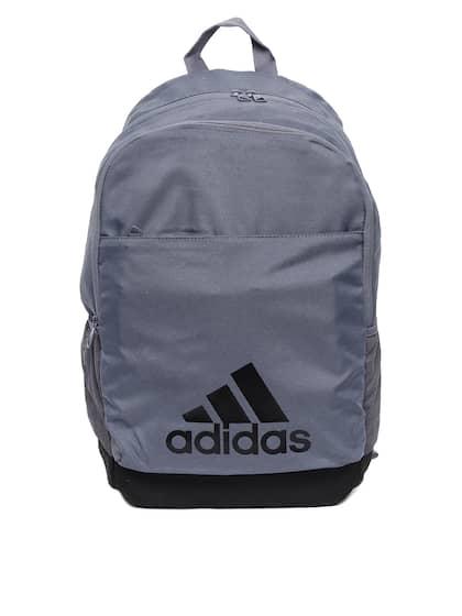 a51911937849 ADIDAS Unisex Grey CLASSICLOGO2CBP Brand Logo Print Laptop Backpack