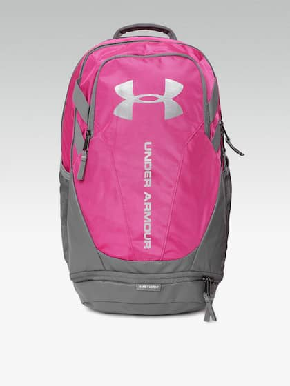f5996b098397 UNDER ARMOUR Unisex Hustle 3.0 Pink   Grey Colourblocked Water-Resistant Laptop  Backpack