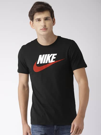 14e9d06770f Nike Men Black Printed TEE ICON FUTURA Round Neck T-shirt