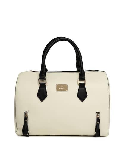Van Heusen Woman Off White Solid Handheld Bag