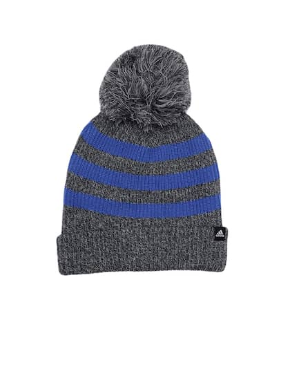 da387b9a7a7 Adidas Unisex Grey   Blue Fat STR Striped Self Design Beanie