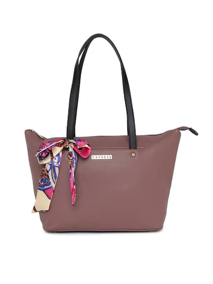 Caprese Taupe Solid Tote Bag