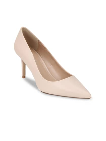 d7bc0a8cd1c7 Forever New Women Nude-Coloured Leather Solid Heels