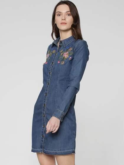 6e52835c50d Denim Dresses - Buy Denim Dresses Online in India