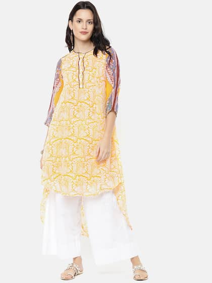 053c5d657ef Biba Yellow Kurtas - Buy Biba Yellow Kurtas online in India