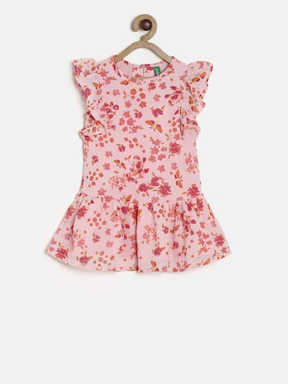 ee2b177eb633 United Colors of Benetton. Girls Printed A-Line Dress