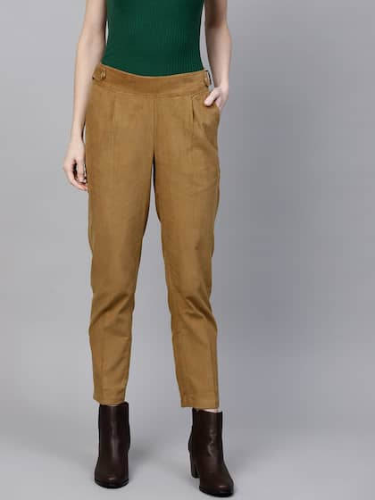 Corduroy Trousers Women - Buy Corduroy Trousers Women online in India 4f90367905