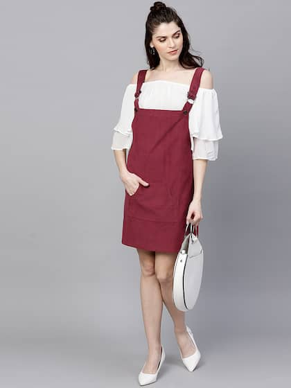 ff34a33e11 Pinafore Dress - Buy Pinafore Dresses Online in India | Myntra