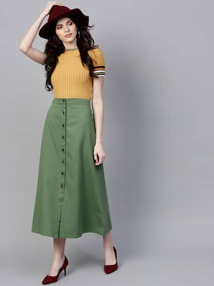 7e200cecb Skirts for Women - Buy Short, Mini & Long Skirts Online - Myntra