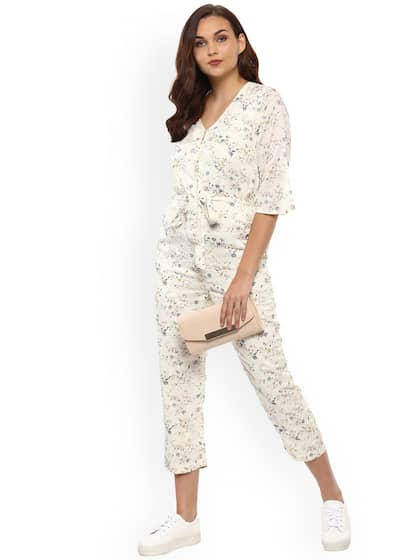 3e592513f3b Women Off White Jumpsuit - Buy Women Off White Jumpsuit online in India
