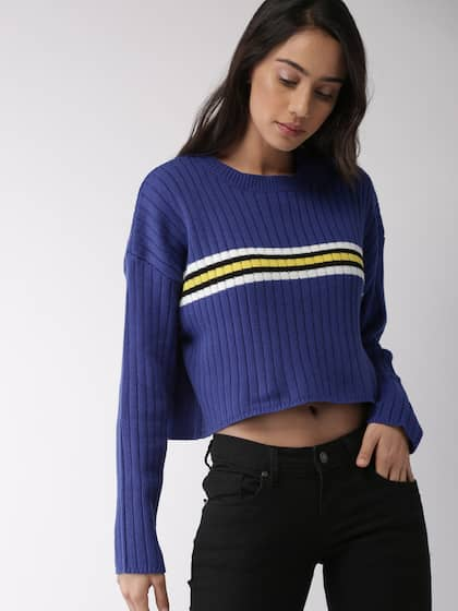 6d8cfb090a34 Cropped Sweater - Buy Cropped Sweater online in India