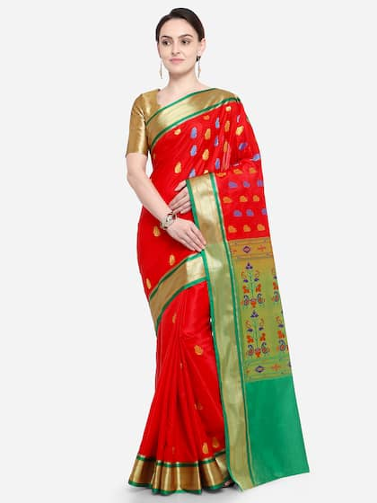 e1333a5002d81 Red Saree - Buy Red Color Fashion Sarees Online