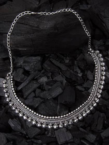 Rubans. Silver Silver-Plated Oxidised Necklace a864a9d7ea0f2