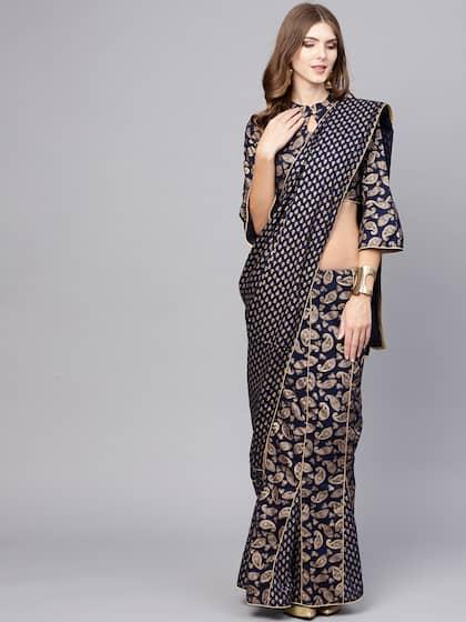 7772d20e6edd Stitched Saree - Buy Pre-Stitched Sarees Online in India