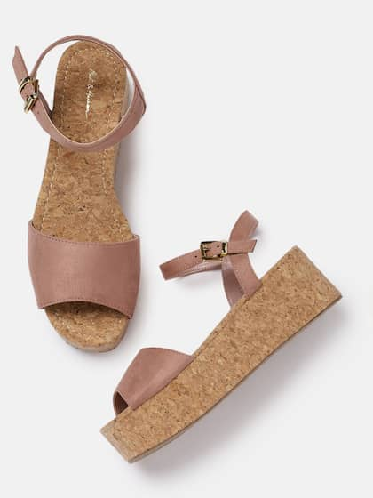 8dcb8484e46 Mast   Harbour Women Pink Solid Flatform Sandals