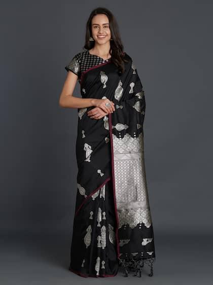 10f1986b86 Kanjeevaram Saree - Shop Kanjeevaram Silk Sarees Online | Myntra