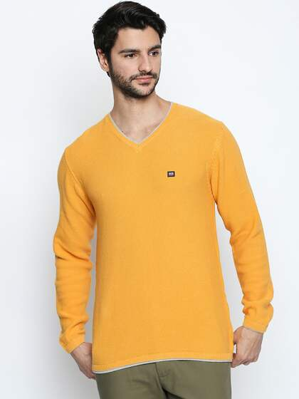 Mustard Yellow Sweaters Buy Mustard Yellow Sweaters Online In India