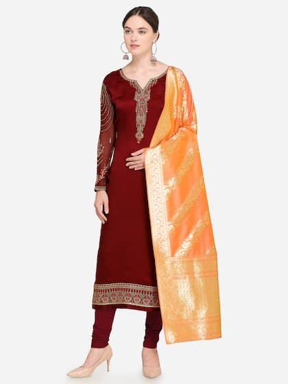89ce674a70 Silk Dress Material - Buy Silk Dress Materials Online in India