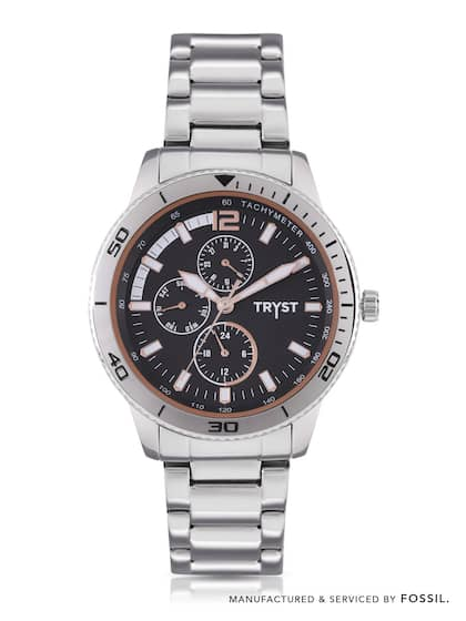 d7662d7cd1cc0 TRYST Manufactured   Serviced by Fossil Men Black Watch