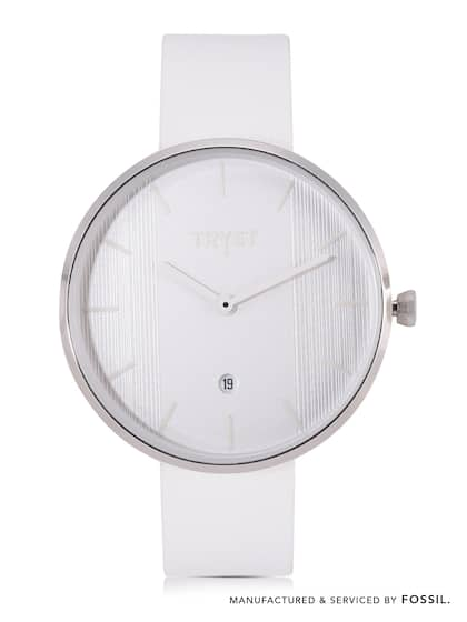 965bd0f4fb65b4 TRYST Manufactured   Serviced by Fossil Unisex White Watch