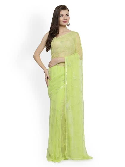 da16c0e04d Geroo Jaipur Embellished Sarees - Buy Geroo Jaipur Embellished ...