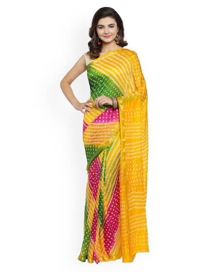 ba72fcb81b Bandhani Sarees - Buy Handcrafted Traditional Bandhani Saree