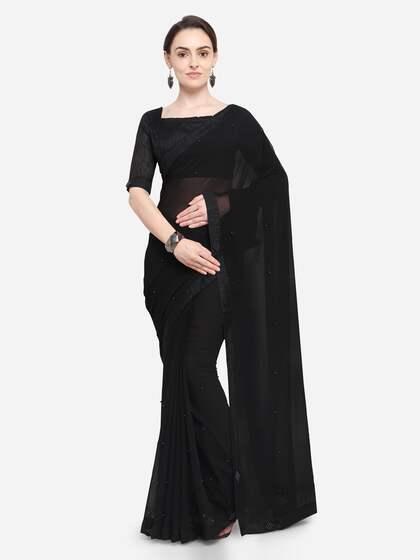 73917b2fdc Black Saree - Black Designer Sarees Online @ Best Price   Myntra