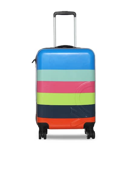 d655ce0d83 BENETTON KIDS Multicoloured Striped Cabin Trolley Suitcase