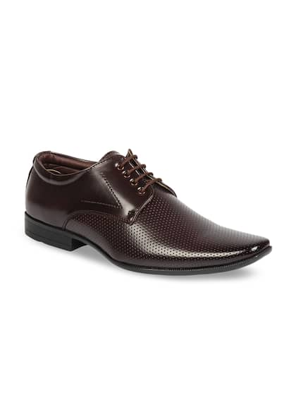 Respiro Men Brown Synthetic Leather Formal Derbys