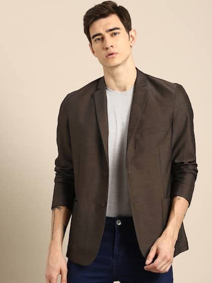a7e2d1bc9ef89 Blazers for Men - Buy Men Blazer Online in India at Best Price   Myntra