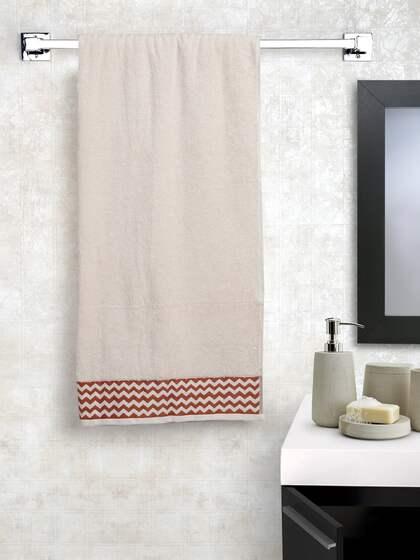 SPACES Peach Coloured Cotton 600 GSM Bath Towel