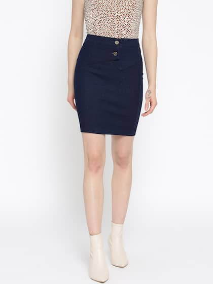 755bea8494 Denim Skirts - Buy Denim Skirts for Women Online | Myntra