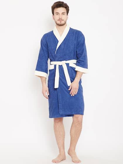 CORE Designed by SPACES. Unisex Blue Bath Robe 70d0e852a