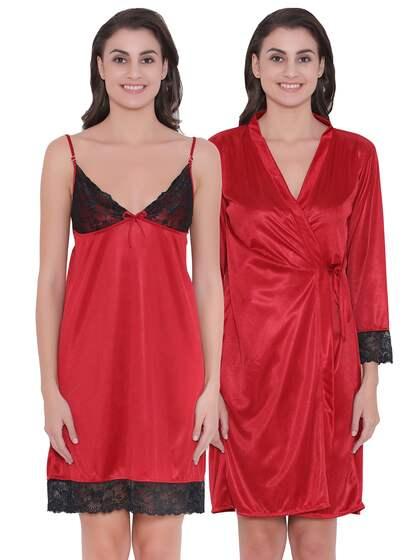 Clovia Satin Nightdresses - Buy Clovia Satin Nightdresses online in ... 8d8f83d77