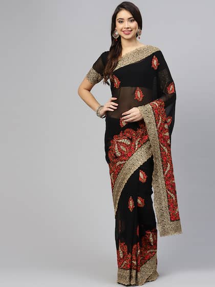 c61c3d9a7f Party Wear Sarees - Buy Partywear Sari Online in India | Myntra