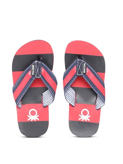 0faf34a662551a United Colors of Benetton. Boys Striped Thong Flip-Flops