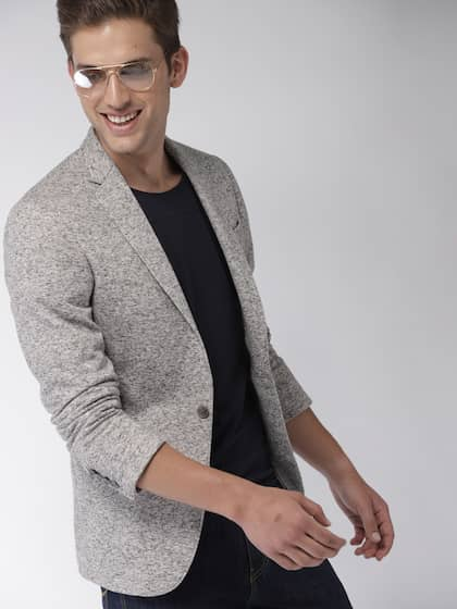 3810c47bd30 Mast   Harbour Grey Slim Fit Single-Breasted Casual Blazer