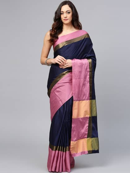 788d928261b09c Blue Saree - Buy Blue Color Women Sarees Online | Myntra
