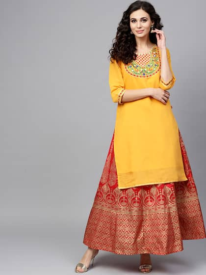 Mirror Work Kurtas - Buy Mirror Work Kurtas online in India