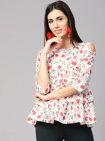 4ab9b350189df1 Cold Shoulder Tops - Buy Cold Shoulder Tops for Women Online - Myntra