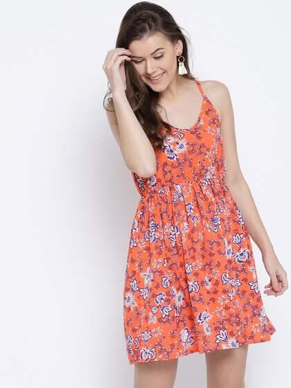 aae50eb28b Orange Dress - Buy Orange Dresses For Women Online in India