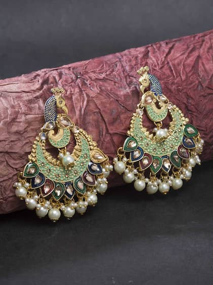 Chandbali Earrings Buy Chandbali Earring Online Myntra